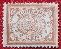 2 Ct Cijfer NVPH 43 1908 1902-1908 MH / Ongebruikt  SURINAME / SURINAM - Surinam ... - 1975