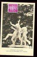 Belgique - Carte Maximum 1956 - Oeuvre De Canneel - O 186 - Maximum Cards