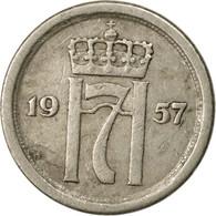 Monnaie, Norvège, Haakon VII, 10 Öre, 1957, TTB, Copper-nickel, KM:396 - Norvège