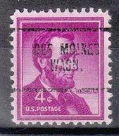 USA Precancel Vorausentwertung Preo, Locals Washington, Des Moines 704 - Vereinigte Staaten
