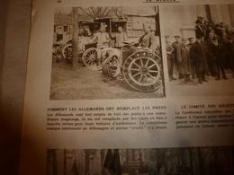 1919 LE MIROIR:Pneus En Bois;Spa;Révolution Russe;Polonais à Posen;La Soupe à Buapest;Jaon;Cameroun Allemand;Arras;etc - Riviste & Giornali