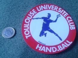 PEGATINA ADHESIVO STICKER TOULOUSE UNIVERSITE CLUB HAND.BALL HANDBALL BALONMANO FRANCIA RARA FRANCE SPORT DEPORTE VER FO - Stickers