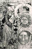 Vinschgau - Naturns - St. Prokuluskirche - Südwand Außen: Gott Erschafft Sonne Und Mond - Italien
