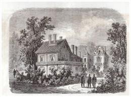 Gravure 1863 BIARRITZ    Et L Empereur à Villa De M   Fould A TARBES - Vecchi Documenti
