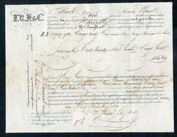 Connaissement - Lettre De Voiture Ou De Roulage 1859 - Port De Cette (Sète - Hérault) -> Marseille - Bill Of Lading - France
