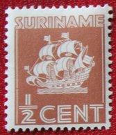 1/2 Ct Scheepje Schip Ship Boat Bateau Navire Schiff  NVPH 157 Mi 177 1936 MH / Ongebruikt SURINAME / SURINAM - Surinam ... - 1975