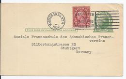 USA (001809) Ganzsache UX27 Mit Zusatzfrankatur , Gelaufen Madinson 1926 - Vereinigte Staaten