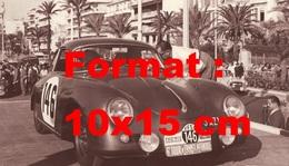 Reproduction D'une Photographie D'une Porsche 356 Numéro 146 Au 6 ème Tour De France Automobile - Repro's