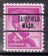 USA Precancel Vorausentwertung Preo, Locals Washington, Fairfield 734 - Vereinigte Staaten