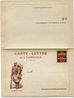 """FRANCE CARTE - LETTRE DE L'ESPERANCE NEUVE ILLUSTATION """" UN BRAVE POILU """" - Marcophilie (Lettres)"""