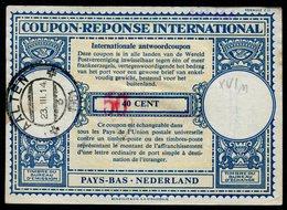 PAYS-BAS  Coupon Réponse International / International Reply Coupon - Postal Stationery