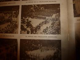 1919 LE MIROIR: Immense Cénotaphe à L'Arc De Triomphe Avec Les Goumiers Algériens,marocains Et Délégations Alliées;etc - Revues & Journaux
