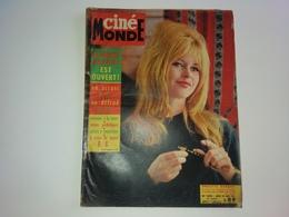 Ciné Monde  N° 1390  BRIGITTE BARDOT 28/03/1961 JEAN MARAIS FRANCIS BLANCHE ROMY SCHNEIDER DELON Simone SIGNORET - People
