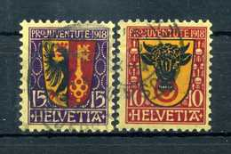 1918 SVIZZERA SERIE COMPLETA USATA - Suisse
