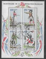 """France 1989 - Bicentenaire De La Révolution  BF Y&T N°10 Oblitéré Philex France 89 """"Cinéma Et Théatre"""" (TB) - Sheetlets"""