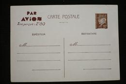 Entier CP Pétain Par Avion 2.80 Maroc Neuve - Postmark Collection (Covers)