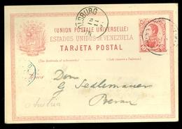 VENEZUELA TARJETA POSTAL Uit 1891 Gelopen Naar BERN OSTERREICH (11.444v) - Venezuela