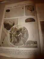 1919 LE MIROIR:Miss Sylvia Boyden Parachutiste;FURIOUS-Royal-Navy;Martyres-Beyrouth;New-York;Handley-Page;Pilote Roget - Französisch