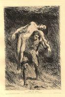 1902 - Eau-forte Originale - Alexandre Falguière (Toulouse 1831 - Paris 1900) - Caïn Et Abel - FRANCO DE PORT - Estampes & Gravures