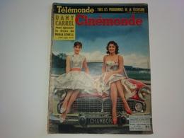 Ciné Monde  N° 1394   BRIGITTE BARDOT  16/10/1958 JULIETTE GRECO LUIS MARIANO  DUKE ELLINGTON - People