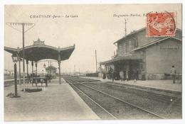 CPA Jura - 39 - CHAUSSIN - La Gare - Francia
