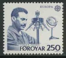 Faroer Faroe Islands 1983 Mi 84 YT 78 Sc 95 ** Nils Ryberg Finsen (1860-1904) Nobel Prize (1903) - Europa Cept - Nobelprijs