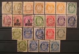 Norwegen Posthorn Lot 1896 - 1929 Gestempelt    (I282) - Norwegen