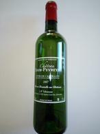 Bouteille Serigraphiée Monochrome Blanc Bordeaux Cuvée 2007 CRS13 TOUR-PEYREYRE - Vin
