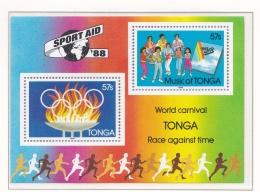 Tonga 1988 Olympic Summer Games In Seoul, Corea - Souvenir Sheet MNH/**  (H43) - Sommer 1988: Seoul
