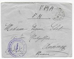 1926 - HOPITAL De CAMPAGNE De CASABLANCA (MAROC) - ENVELOPPE FM => ANNONAY (ARDECHE) - Bolli Militari A Partire Dal 1940 (fuori Dal Periodo Di Guerra)