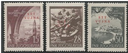 STT VUJA 1952-76-8 WARMARINE, 1 X 3v, MNH - Jugoslawische Bes.: Triest