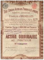 Ancienne Action - The Anglo African Produce Company - Déco - Titre De 1897 - Afrique