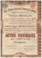 Ancienne Action - The Anglo African Produce Company - Déco - Titre De 1897 - Afrika