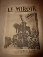 1919 LE MIROIR:Armée Rouge;Japonais à Marseille;La PACKARD;Lutte Contr Sous-marins;DEUTSCHLAND II à Cherbourg;London;etc - Riviste & Giornali