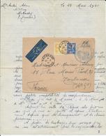 1940 - LETTRE FM Par AVION De La BASE AERIENNE De MAKNASSY (TUNISIE) => TOULOUSE - 2. Weltkrieg 1939-1945