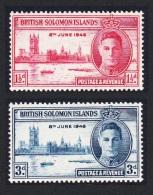 Solomon Is. World War II Victory 2v SG#73-74 SC#80-81 - Solomon Islands (1978-...)