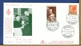 VATICANO - 1963 - VISITA PAPA GIOVANNI XXIII A PRESIDENTE REPUBBLICA ITALIANA ANTONIO SEGNI IN QUIRINALE - Christianity