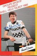CYCLISME TOUR  DE  FRANCE    AUTOGRAPHE   PASCAL SIMON - Radsport