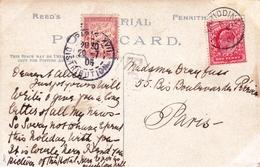Postal Card Glenridding 1905 Taxe Ullswater Hotel - 1902-1951 (Reyes)