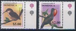 MDB-BK4-471-5 MINT ¤ DOMINICA 2001 2w In Serie (HOGE WAARDE $5.-+$2.-) ¤ - OISEAUX - BIRDS - PAJAROS - VOGELS - VÖGEL - - Zangvogels
