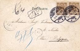 Postkarte Gruss Aux Cloppenburg 1900 Deutschland Taxe - Lettres & Documents