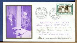 VATICANO - 1963 - VISITA PRESIDENTE REPUBBLICA ITALIANA ANTONIO SEGNI A PAPA PAOLO VI - Christianity