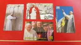 4 Cartes Pape Jean-Paul II - Personaggi
