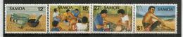L'art Du Tatouage Aux Iles Samoa.  Yv.# 498/301  .  4 T-p Neufs ** . - Samoa
