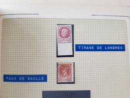 Faux De Londres 1f50 Bersier Et De Gaulle De Nice - Liberation