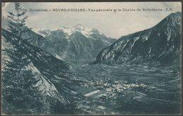 Vue Générale Et La Chaîne De Belledonne, Bourg-d'Oisans, Isère, 1927 - ER CPA - Bourg-d'Oisans