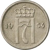 Monnaie, Norvège, Haakon VII, 10 Öre, 1954, TTB, Copper-nickel, KM:396 - Norvège
