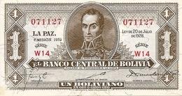 Bolivia   1 Boliviano  1952  UNC - Bolivie