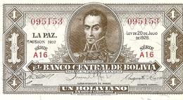 Bolivia   1 Boliviano  1952 - Bolivie