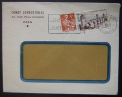 1957 Caen (R.P.) Comby Combustibles 20 Rue Paul Doumer - Postmark Collection (Covers)